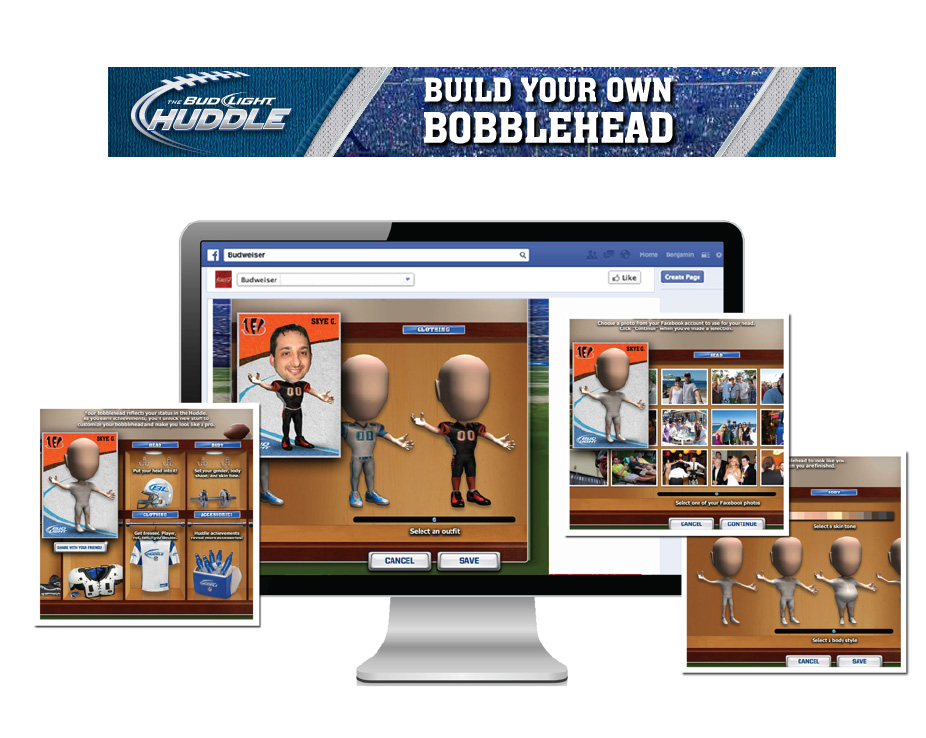 Bud Light Huddle: Build Your Own Bobblehead